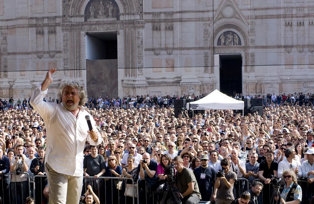 Beppe Grillo e il movimento cinque stelle