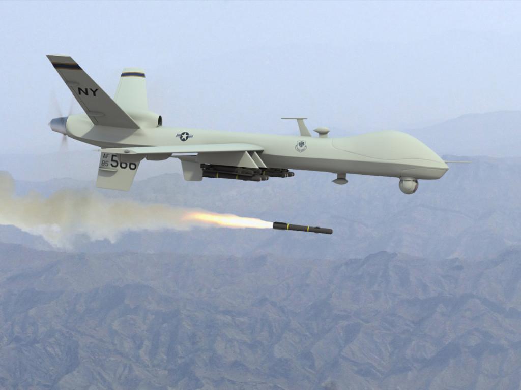 Drone militare tipo Predator americano da combattimento