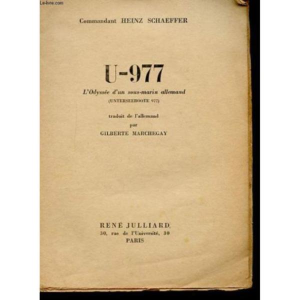Heinz Schaeffer U-977 book