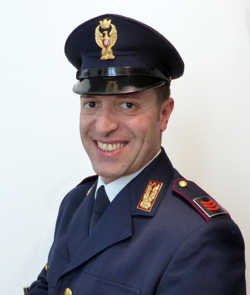 Stefano Calabrò in uniforme