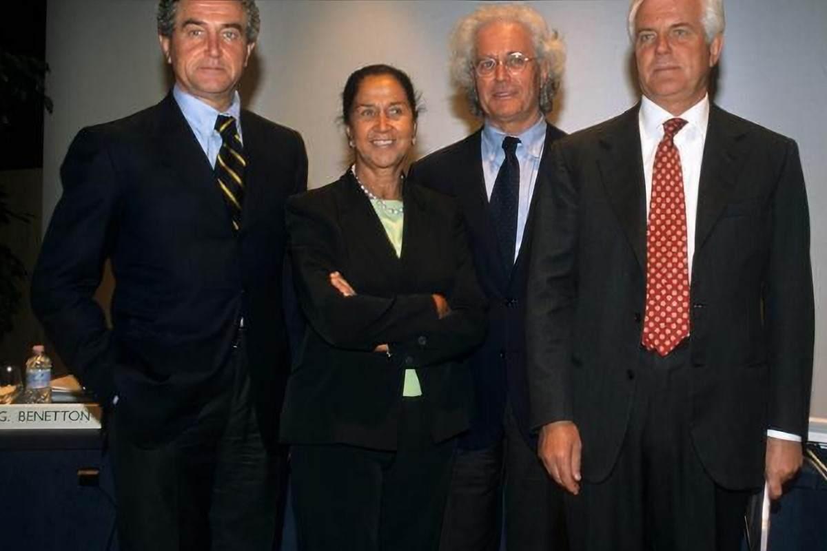 La famiglia Benetton a gran completo
