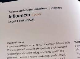 corso di laurea per influencer