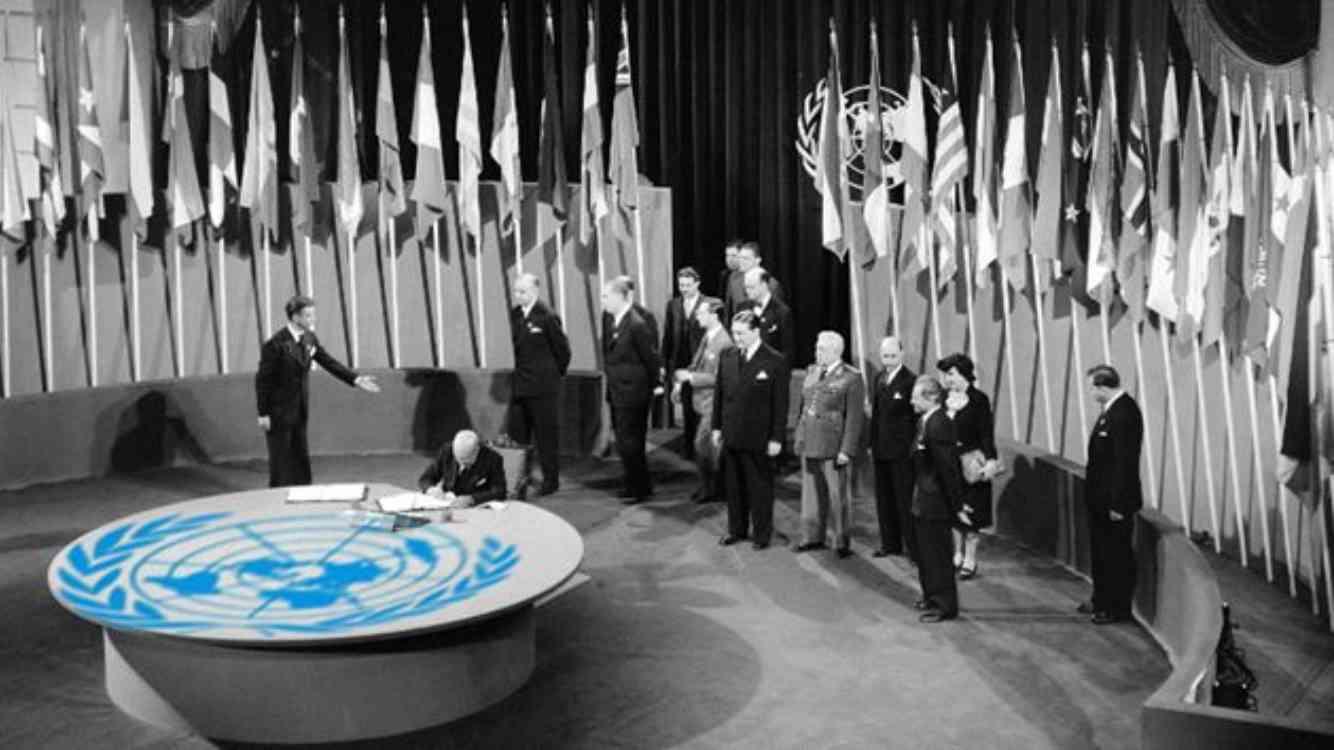 Uno dei tavoli dell'Onu