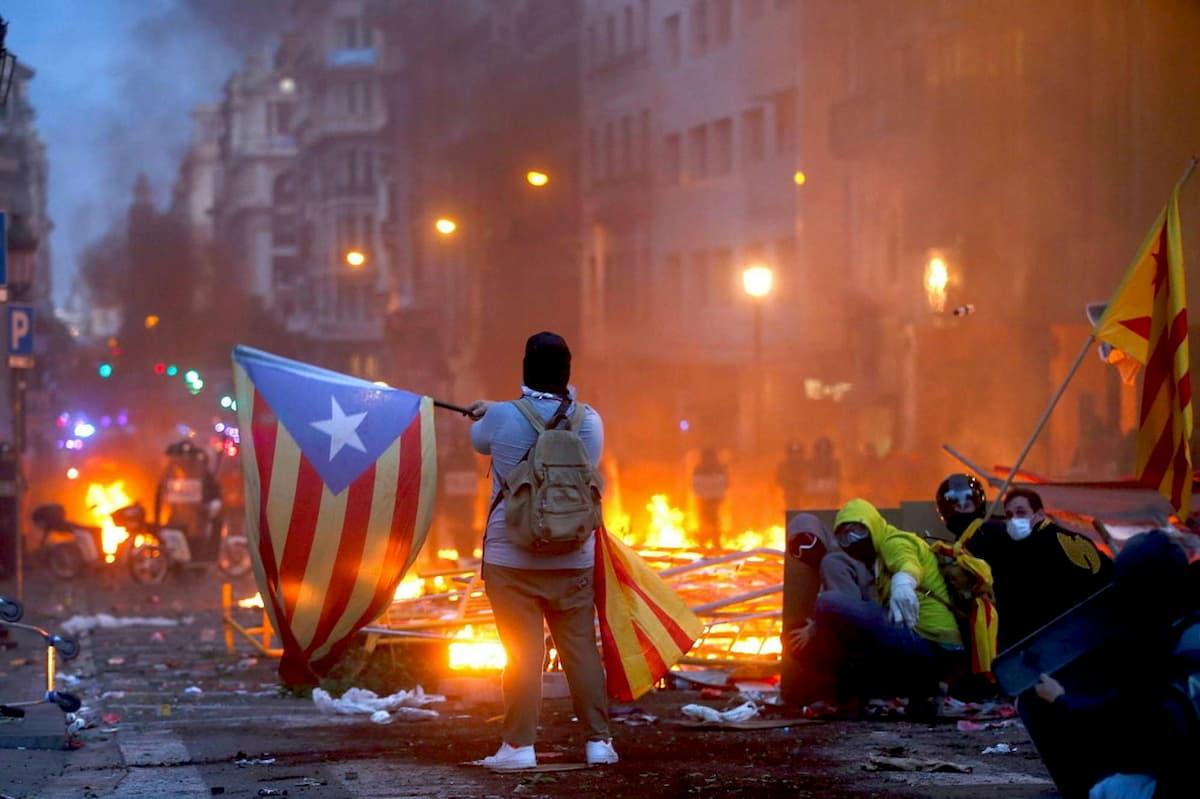 scontri indipendentisti catalani